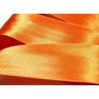 Satin-Schrägband - 20 mm orange