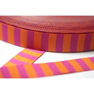 Farbenmix Ringelband pink-orange