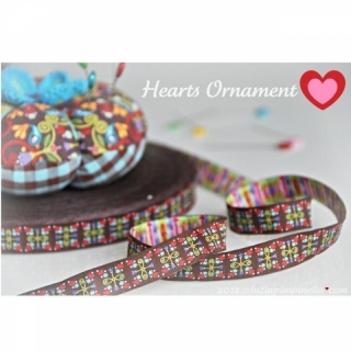 Farbenmix-Webband Hearts Ornament