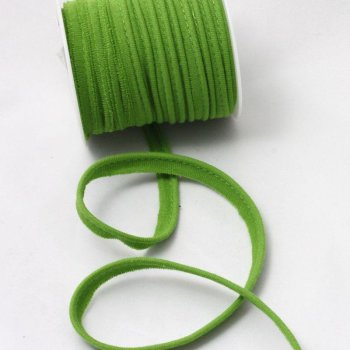 Jersey-Paspelband - 10 mm breit - lime