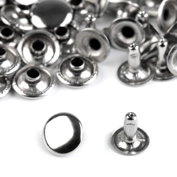 Hohlnieten - D: 10 mm - nickel- (100 Paar)