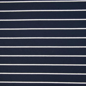 Viscose-Jersey : Engineer Stripes - navy