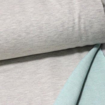 2-coloured Sweat - beige melange / mint