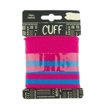 Cuff Three Stripes - pink mit aqua