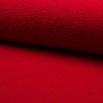 Wollstoff / Jackenstoff boiled Wool Plus - red