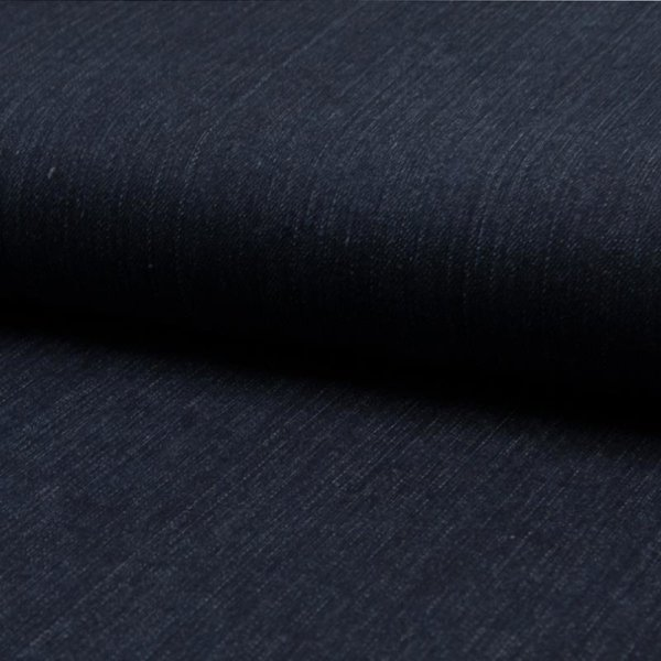 Jeans / Hosenstoff Denim Washed Stretch - navy