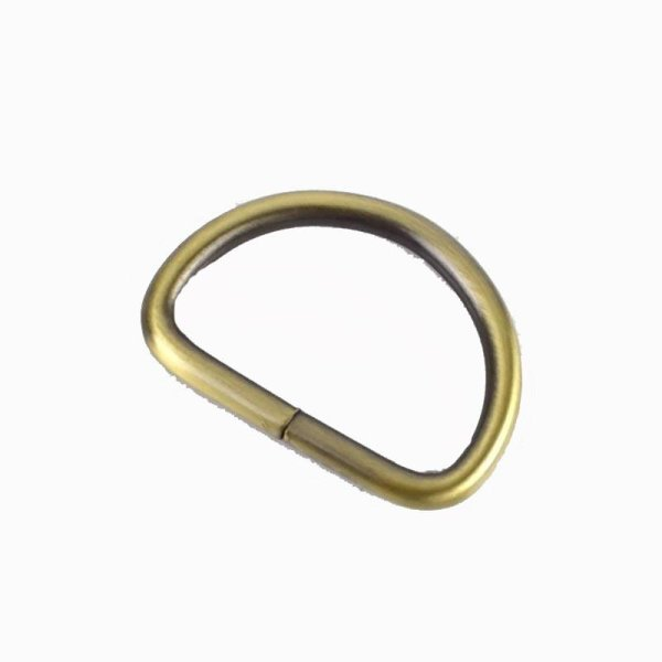 D-Ring /Halbring - Farbe : Messing  - 40 mm