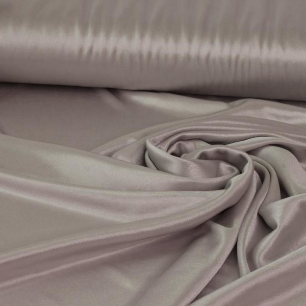 Satin Futterstoff Stretch - light silver