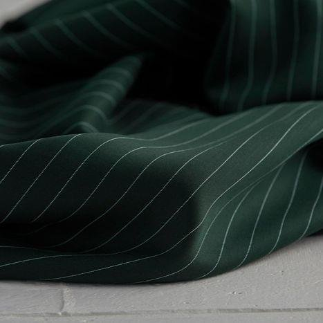 meetMilk - Tencel Pin Stripe Twill - Deep Green