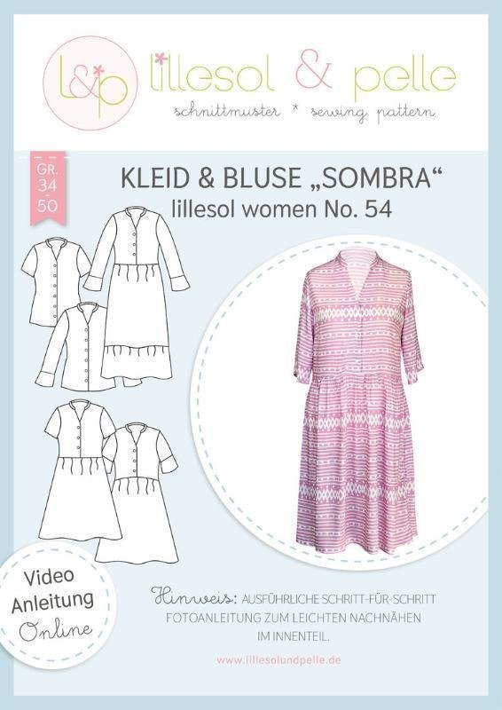 Papierschnittmuster lillesol & pelle woman No. 54 Kleid & Bluse Sombra