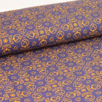 Sommersweat Pretty Bloom by Lycklig Design Ocre navy