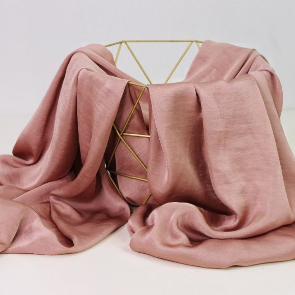 Satin Silky Airwashed - dusty rose