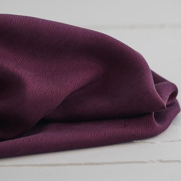 meetMilk - Cupro/Tencel Bark Crepe - Burgundy