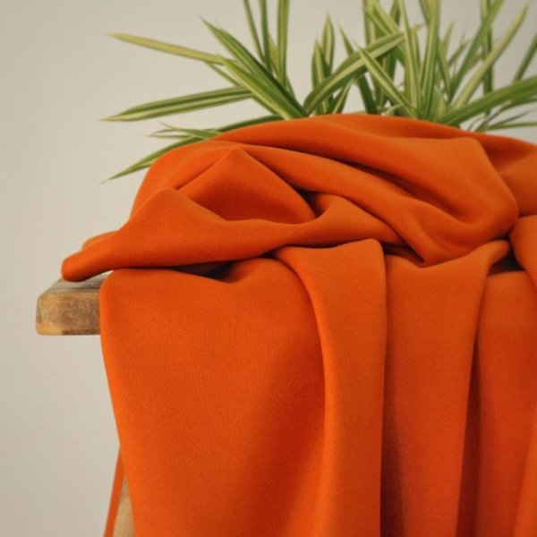 Jacken/Mantelstoff Velours Robia - rost-orange