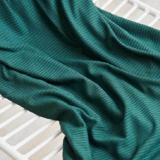 meetMilk - Derby Ribbed Jersey - Deep Green