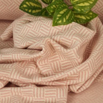 Jacquard aus recycelter Baumwolle - Woven Stripes - Rosa